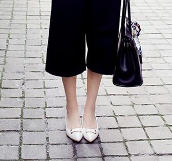 Zapatos Hembra De Arco Delgada Una 02 Profundo Primavera 03 01 2016 Blanco Un En 04 Tacón Mujer Con Bajo Punta Poco Nuevos La qfx45WC