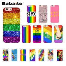 Babaite Gay Lesbian LGBT Rainbow Pride ART Phone Case for iphone 11 Pro 11Pro Max 8 7 6 6S Plus 5 5S SE XR X XS MAX