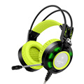 2016 Headset Nubwo K6 Gaming Headphones with Microphone Glowing LED light USB Noise Cancell Volume Control for PC Computer Green