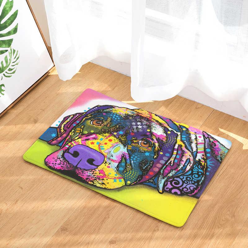 2017 приветственные напольные коврики животные масло собака печатных ванная кухня ковры коврики коврик с изображением кошки для гостиной противоскользящие Tapete