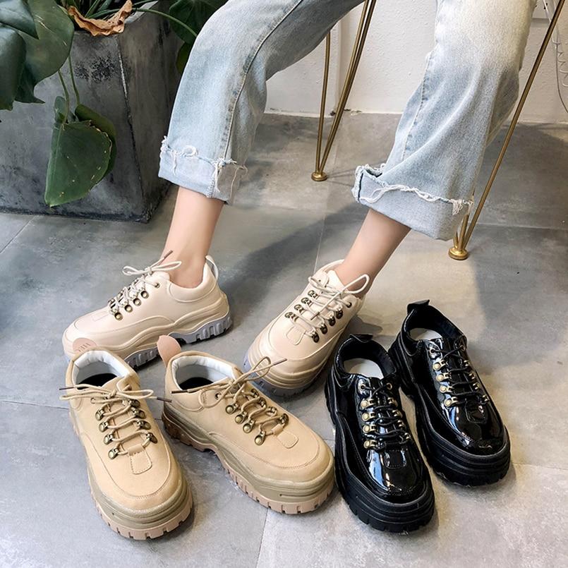 308910c2 Cuero Tenis Suede Mujer Alpargatas Black khaki Zapatos beige Charol Negro  De Las Nuevo Plataforma Pisos ...
