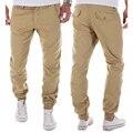Moda Cáqui Calça Casual Mens 2016 Sporting Tactical Estilo Militar calças Capri Basculador Sweatpants Hip hop Fino A8884