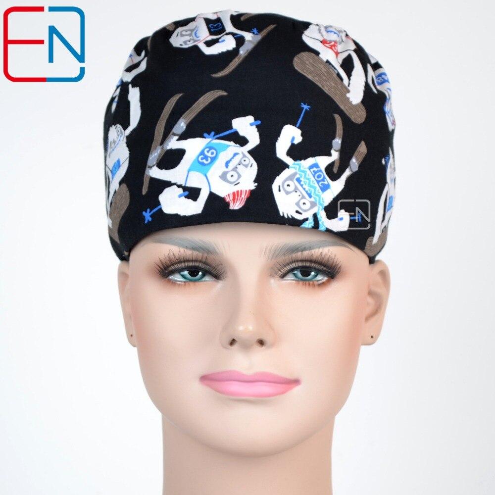 Hennar Scrub Caps Top Quality Brand Women Doctors Surgical Scrub Caps Medical Sergury Nurse Accessories Hats Caps Skating Boy