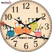ФОТО MEISTAR Vintage Clocks Brief Design Silent Home Cafe Office Wall Decor Clocks for Kitchen Wall Art  Large Wall Clocks