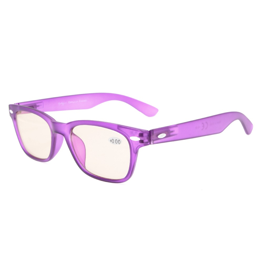 CG148 Amber Tinted Lenses Computer Glasses Comfortable for Reduce Harmful Levels of Blue Light Screen Monitor Glare Anti Fatigue
