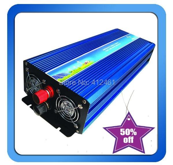 3000W Peak 6000W Pure Sine Wave Inverter 12/24/48V to 120/230VAC Power Inverter converter 24v to 110v цена