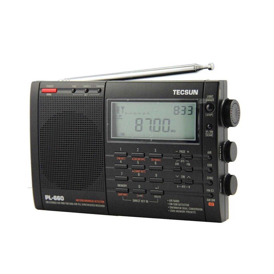 Lusya Tecsun PL 660 Портативный высокая производительность Full Band Цифровая настройка стерео радио FM и AM радио SW SSB