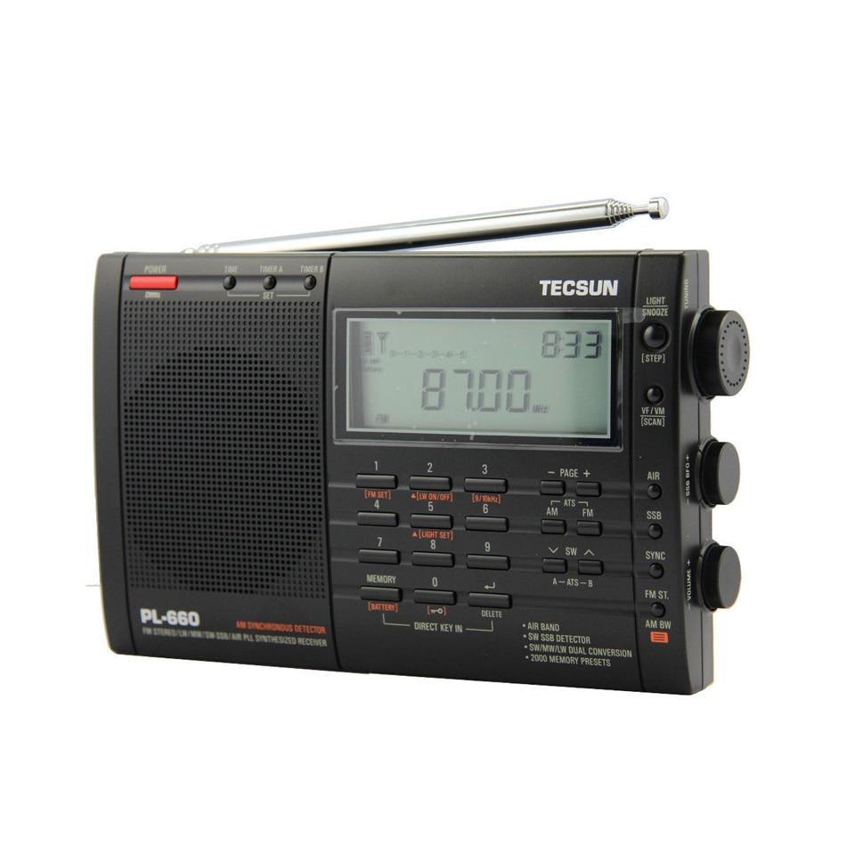 Lusya Tecsun PL-660 Tragbare High Performance Volle Band Digital Tuning Stereo Radio FM AM Radio SW SSB