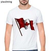 2017 Men S T Shirts Casual Tees Personal Custom Comfortable Brusas High Quality Canada Flag Logo