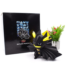 Anime Batman Pikachu Cosplay Batman Action Figure PVC Figurine  Collectible Model Christmas Gift Toys 13 cm недорого
