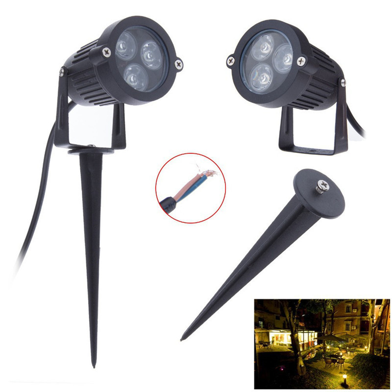 3W 9W Vandtæt Lights LED Lawn Lamp 110V 220V Landskab Spot Light 110 V 220 V Udendørs Belysning Lamper Spike Light For Garden