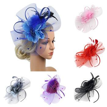 2019 Handmade Women Hair Clip Feather Wedding Casual Fascinator Headpieces Hair Accessories Party Headwear Hairband #3A23