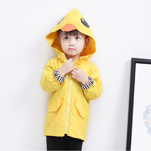Spring/Autumn Jacket For Boys Yellow duck Coat Baby Kids Infant Outerwear Children Clothes