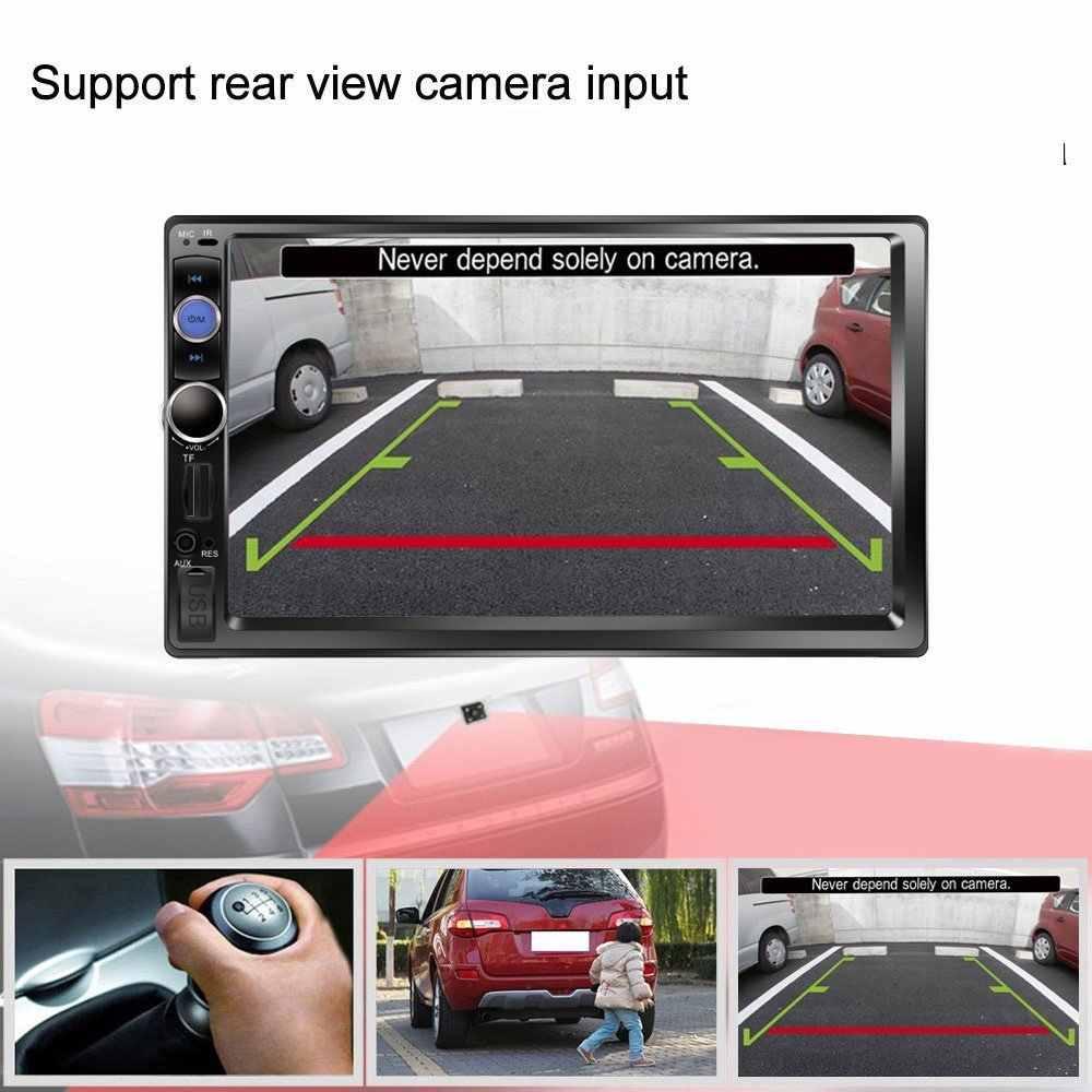 """Podofo Autoradio 2 喧騒車のラジオ 7 """"HD タッチスクリーンマルチメディア MP5 プレーヤー 2DIN 自動オーディオ、カーステレオ Bluetooth USB TF FM カメラ"""