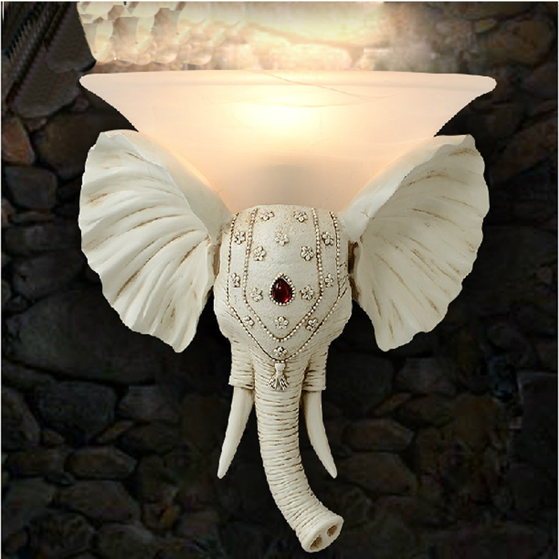 kids lamp european resin wall lamp antique led wall lights living room wall lamp for bathroom vintage wall lights elephant light elephant fire forest wall hanging tapestry