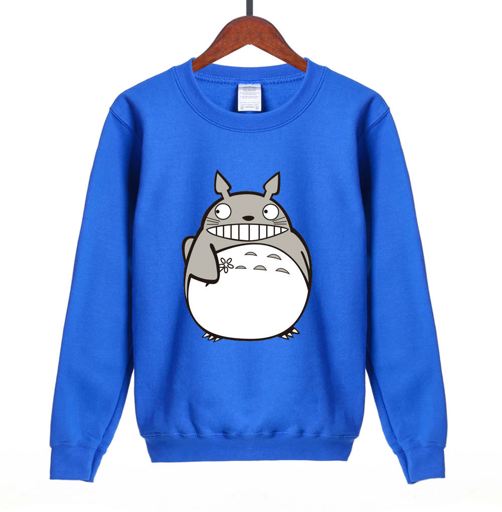 Hot sale Japanese Anime Gray My Neighbor Totoro cute women sweatshirt 2018 spring winter kawaii hoodies brand clothing S-2XL