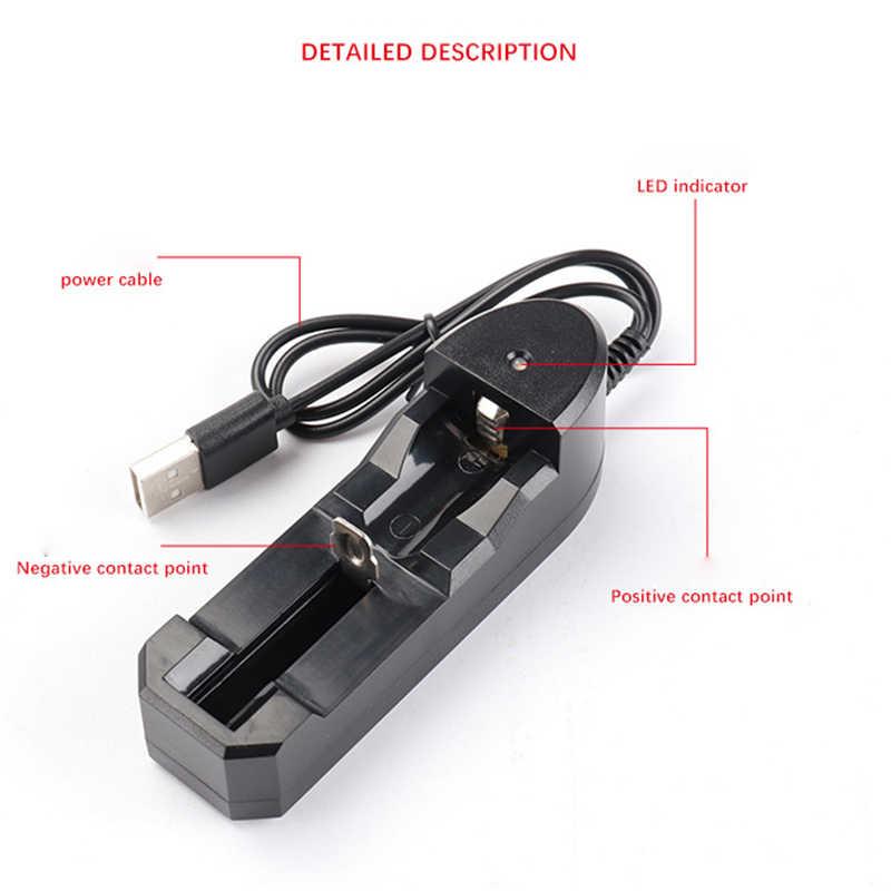 3.7 V 18650 واحدة فتحة شاحن بطارية ليثيوم أيون USB مستقلة شحن المحمولة 18350 16340 14500 شاحن بطارية
