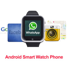 2017 GW05 Smart Watch Phone Android OS MTK Smartwatch 6572 поддержка sim-карты Android 4.4 Bluetooth 3 Г С WI-FI Камера GPS