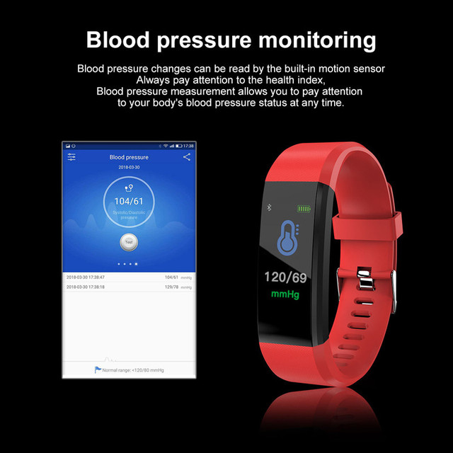 Schnoah Uni Sex Heart Rate Monitor Blood Pressure Fitness Tracker Smartwatch  for ios android