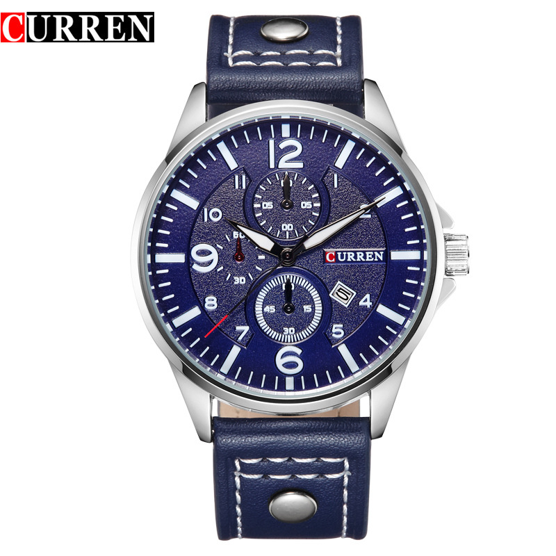 CURREN Luxury Casual Men Watches Analog Military Sports Watch Quartz Male Wristwatches Relogio Masculino Montre Homme8164
