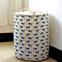 New ZAKKA waterproof clothes basket dirty barrel folding blue whale fish mouth full thickened storage laundry basket wholesale