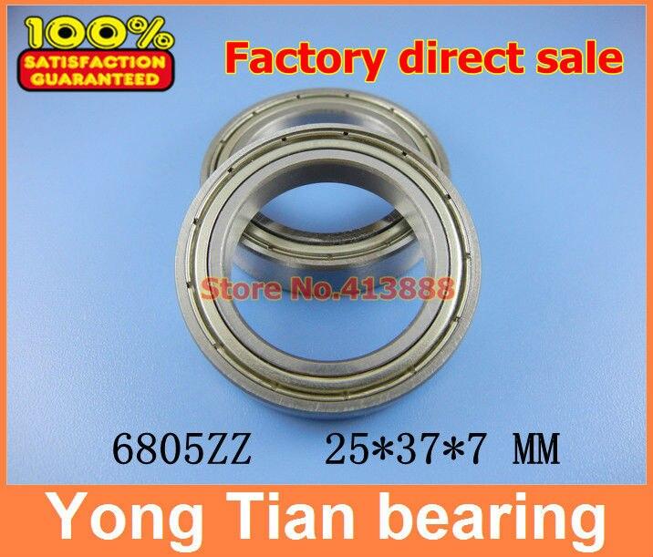 10pcs free shipping thin wall deep groove ball bearing 6805ZZ 25*37*7 mm 1pcs flange bearing thin wall deep groove ball bearings f692zz 2 6 7 5 3 0 8 mm