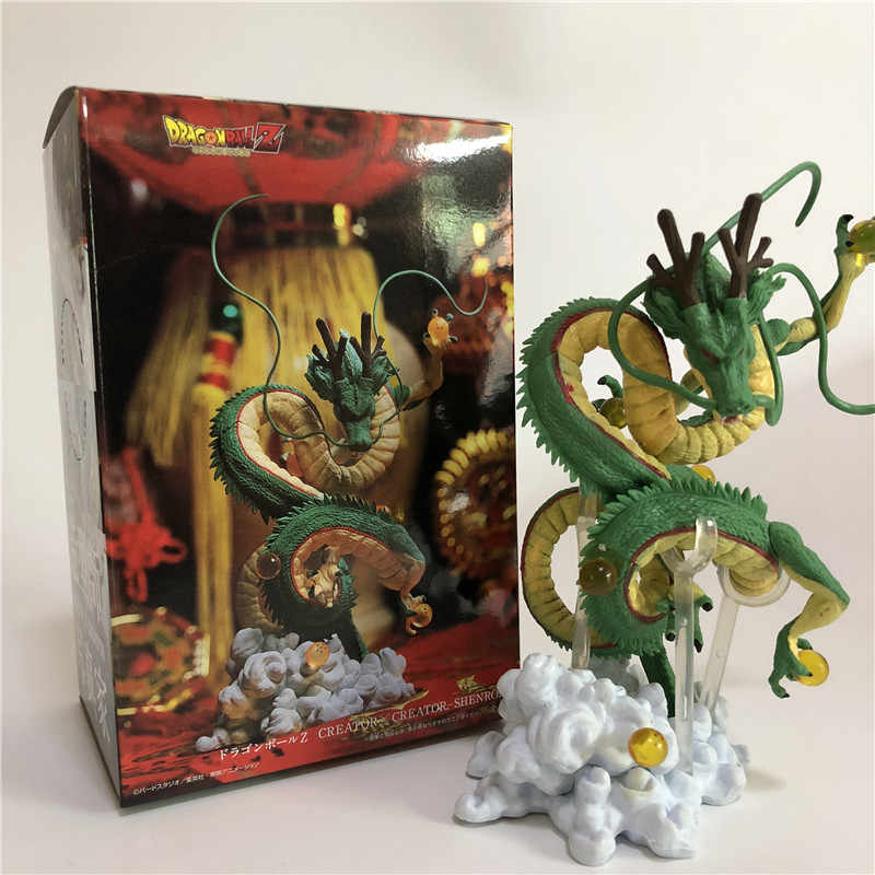 2 Styles Dragon Ball Z Shenron Shenlong Goku Reactive Energy Winding DBZ Action Figures Model Toy Collection 15CM
