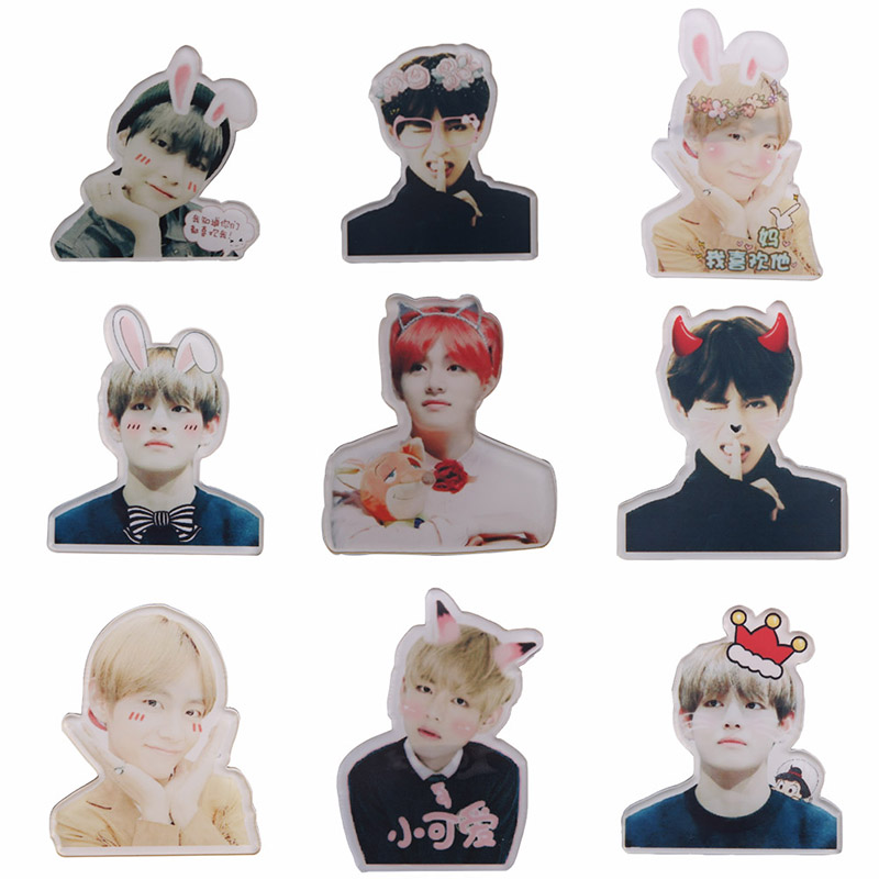 Hot Sale Korea POP BTS Bangtan Boys Q Styles Brooch Pins Badge Broches For Clothes Backpacks Drop Shipping
