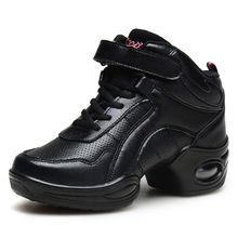 лучшая цена Womens sneakers jazz shoes for dancing Woman Shoes with Platform Jazz Music Black Sports Feature Soft Outsole Breath Dance shoe