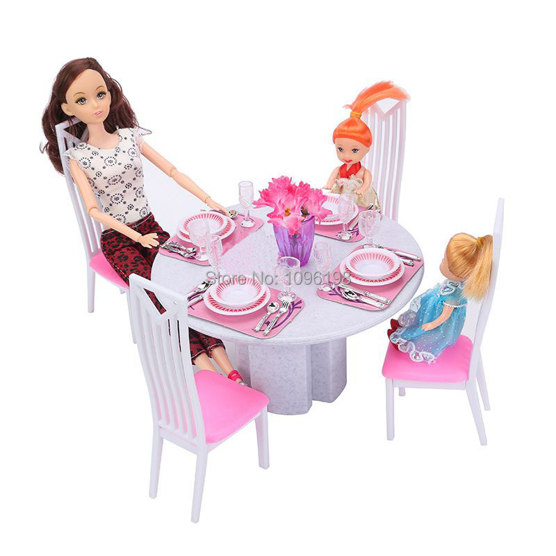 Online Doll House Furniture 94011 Dining Room Play Set For Barbie Aliexpress Mobile