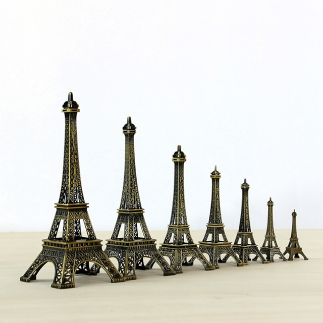 25cm Metal Art Crafts Paris Eiffel Tower Model Figurine Zinc Alloy Statue Travel Souvenirs Home Decorations Creative Gifts