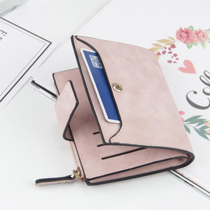 Baellerry Luxury Short Womens Cute Zipper Coin Pocket Trifold Wallet Leather Women Card Holder Clutch Hasp Ladies Purse W105 6