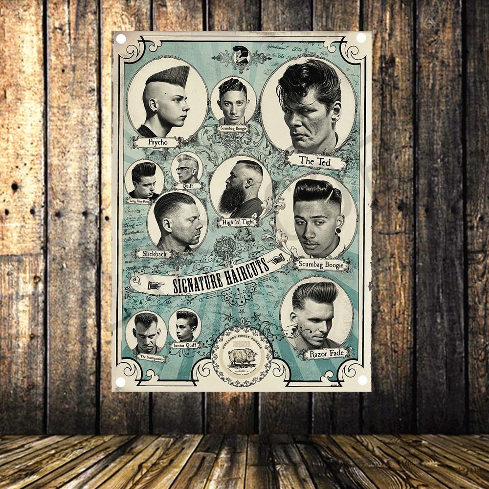 Barbershop Poster Banners Opknoping Pictures Art Waterdicht Doek Kapsalon Schoonheidssalon Kapper shop Muur Decor Geschikt Voor Mannen En Vrouwen Van Alle Leeftijden In Alle Seizoenen