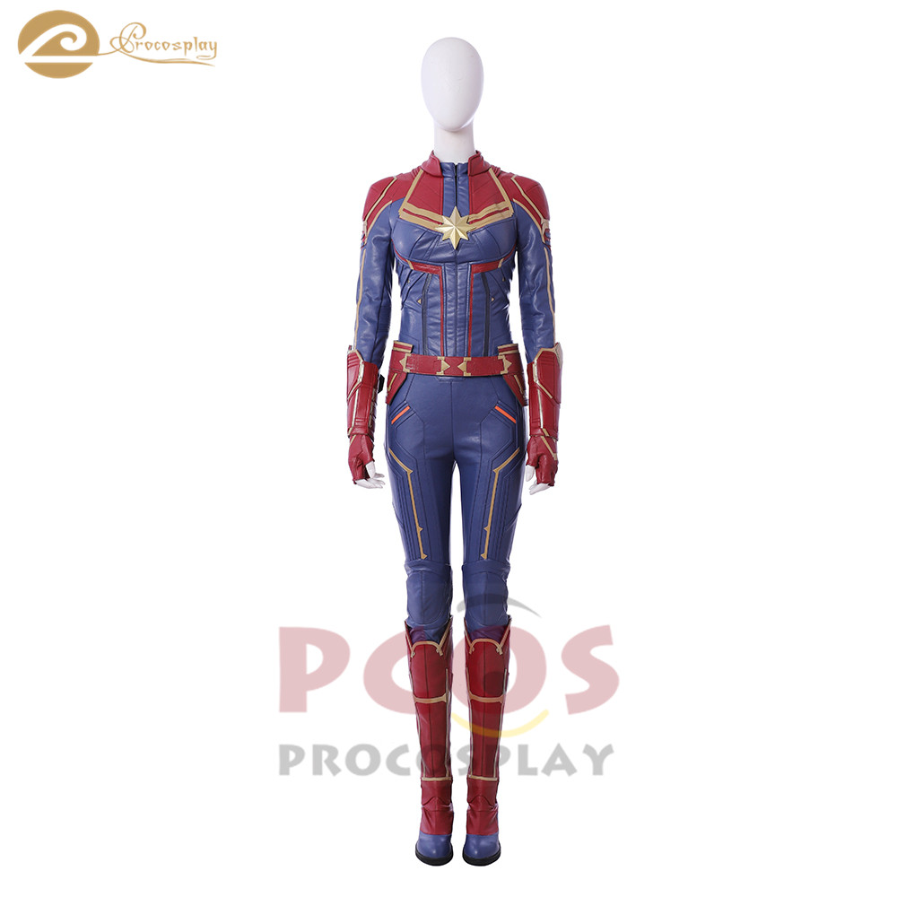 ProCosplay Captain Marvel : Ms. Marvel Carol Danvers suit Cosplay set Costume Ms. Marvel cosplay new costume no shoes mp004141