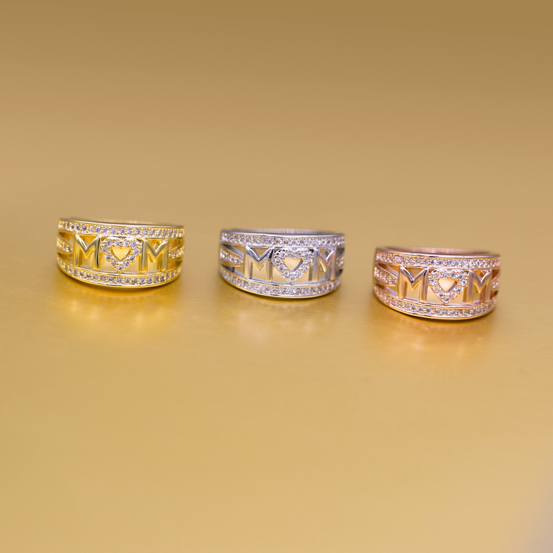 Diamond Mom Ring - Mother's Day Ring