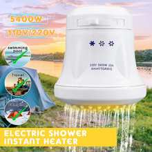 ST-08 3800W~5400W 110V/220V Electric Shower Head Tankless Instant Hot Water Heater Hose Bracket(China)