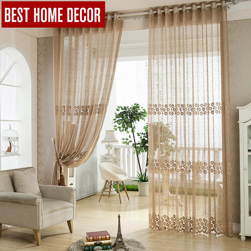 Best Home Decor Tulle Sheer Window Curtains For Living Room The Bedroom Kitchen Modern Fabric Blinds D In From Garden On