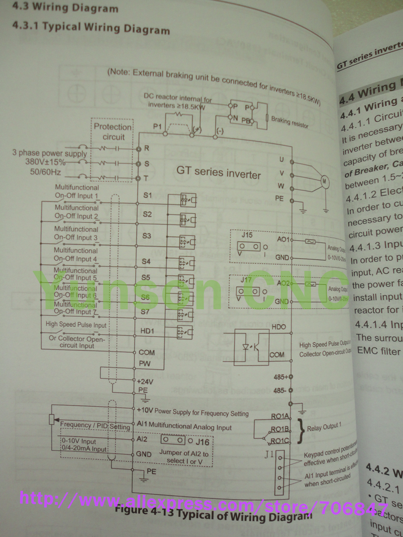 Huanyang 4kw 5hp vector control vfd inverter 4000w 9a variable vector vfd inverter wire diagram ali asfbconference2016 Images