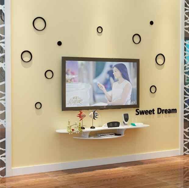 etagere murale de decodeur tv simple etagere murale pour routeur decoration murale de l arriere plan de la salle sans perforation