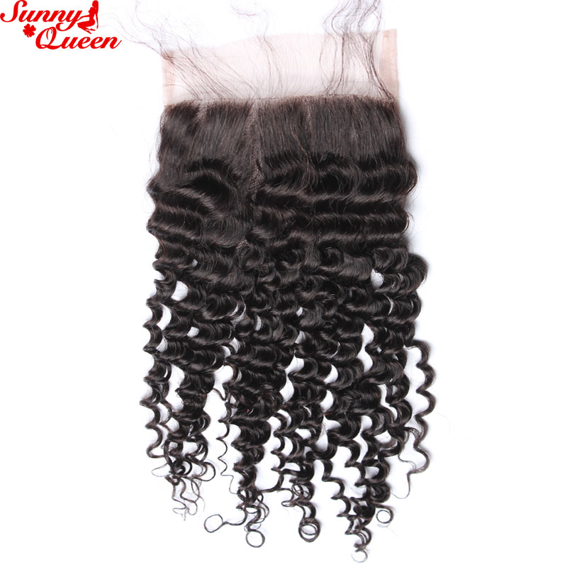 ФОТО Mongolian Kinky Curly Lace Closure Bleached Knots 8A Afro Kinky Curly Virgin Hair Lace Top Closure 8-20