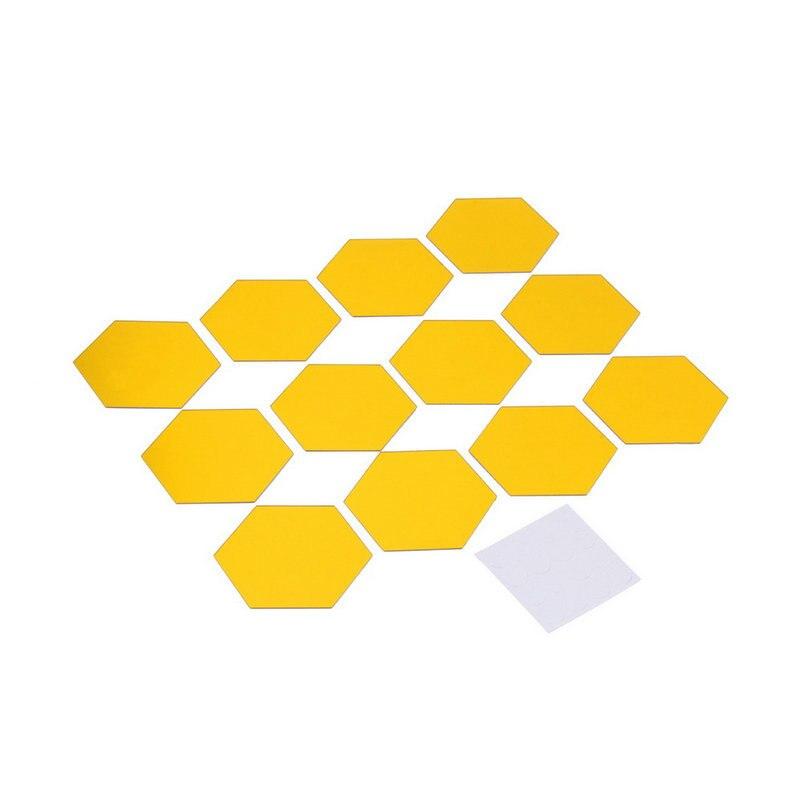 Marca Durable DIY 3D Novela Hexagonal De Acrílico Espejo Pegatinas de Pared Tatu