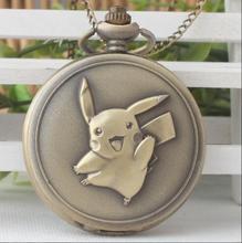 Relógio de Bolso do vintage Game Boy Pokemon Pikachu Quartzo