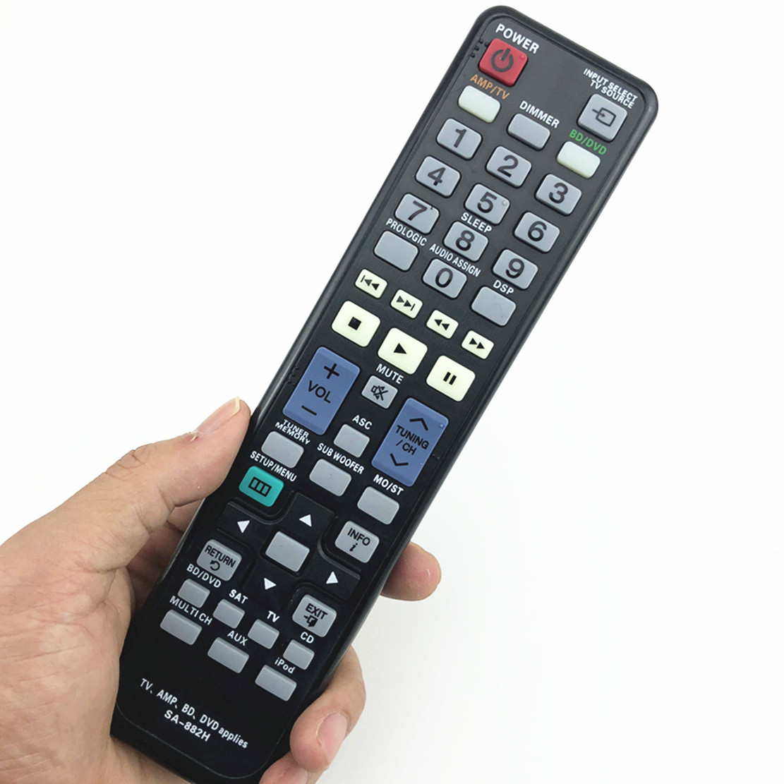 remote control suitable for samsung tv amp bd dvd AA59-00465A AA59-00475A AH59-02305A AK59-00104R BN59-00518B palyer 1 pc new replacement tv remote control for samsung ak59 00172a for dvd blu ray player bd f5700 without battery