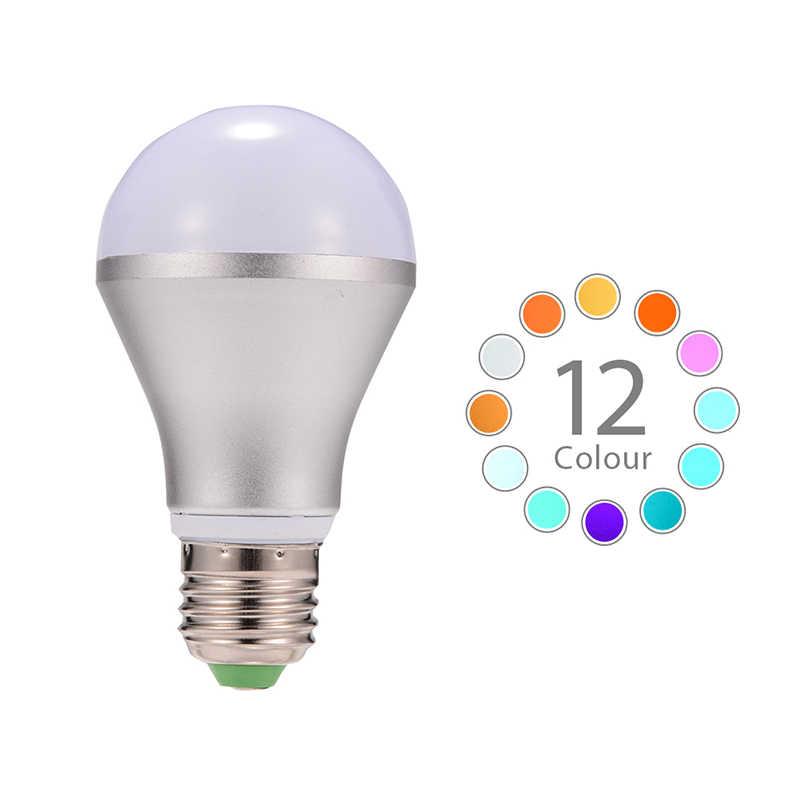 10 W E27 RGB 16 Warna Mengubah Dekorasi AKDSteel Wireless Spotlight LED Light Bulb Lampu Spotlight + IR Remote Control