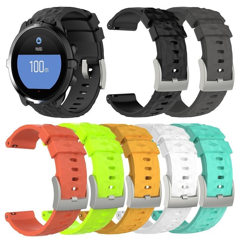 Acessório de Substituição Watch Band Alça de Pulso Pulseira de Silicone para Espartano 9 e Suunto Suunto HR de Pulso Esporte Smartwatch Baro