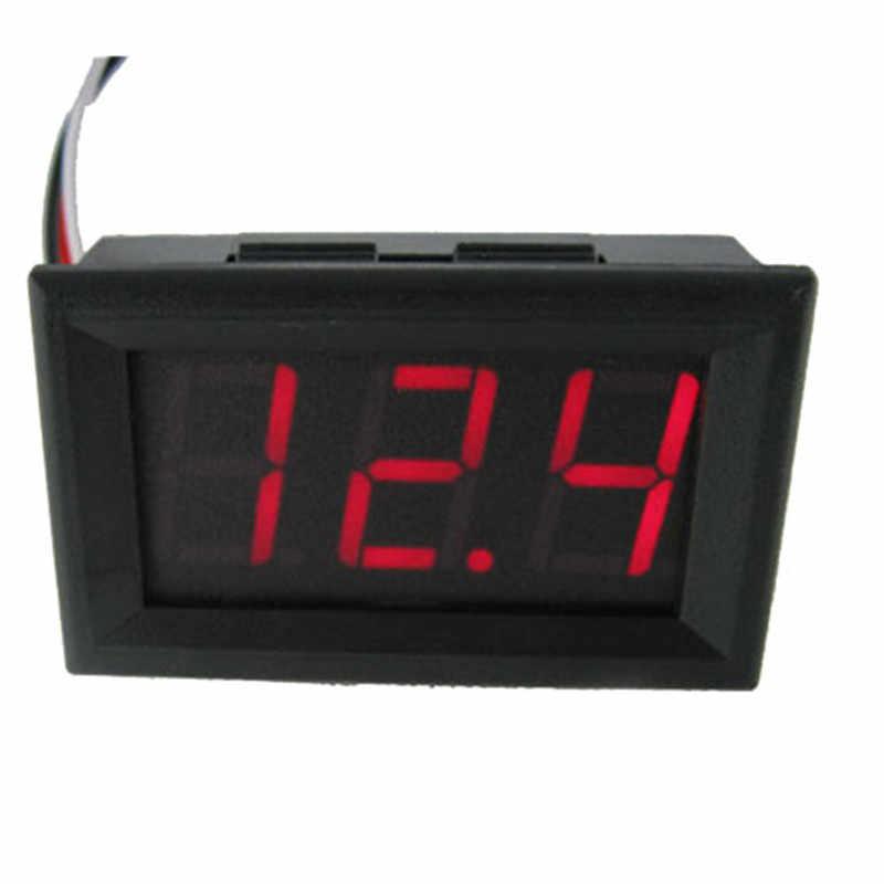LCD Digital DC 4.5 โวลต์ ~ 30 โวลต์แผงเครื่องตรวจจับโวลต์มิเตอร์สีแดงสีน้ำเงินสีเขียว Tester Monitor อะแดปเตอร์โวลต์มิเตอร์ตัวแปลง