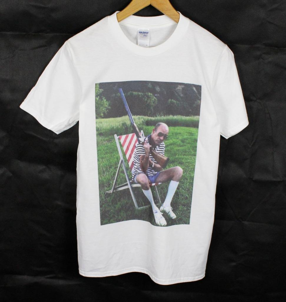 Возьмите Хантера Томпсон белая футболка Размеры S-XXXL пистолет Gonzo страх ненависть Лас-Вегас ...