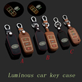 Leather Car Keychain Key Case Cover for VW Golf bora Jetta MK5 MK6 MK7 CC Tiguan Passat B6 B7 Scirocco key holder bag Accessory