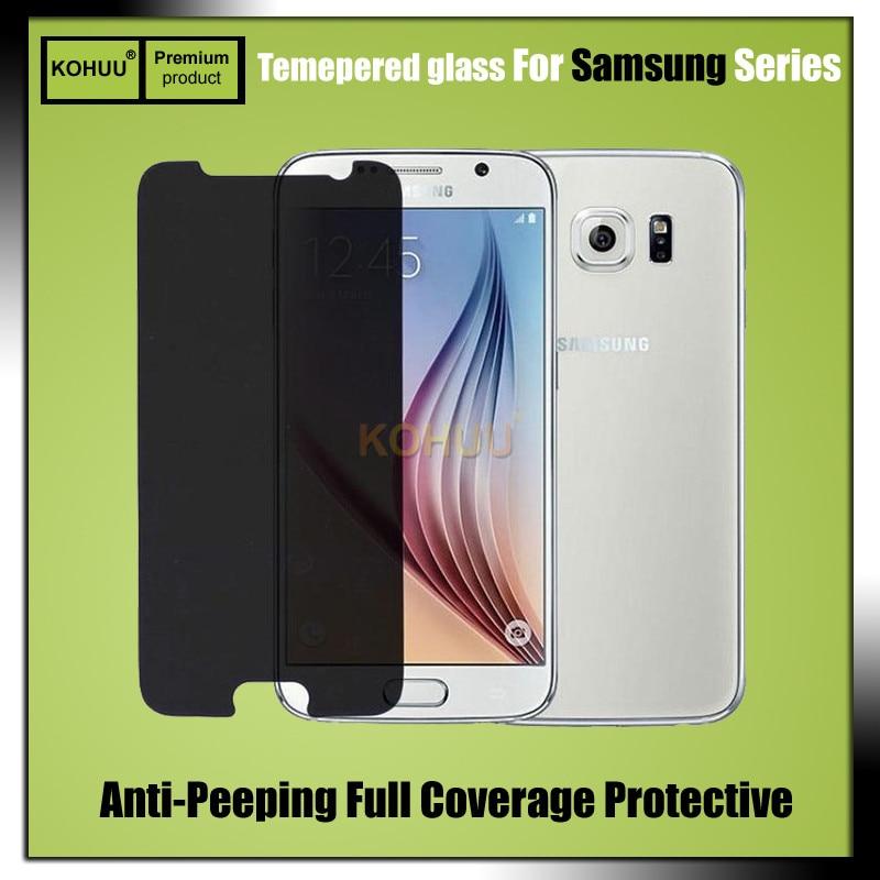 9H 2.5D Anti-peeping Screen Protector Flim Privacy Tempered Glass For OPPO A33 A37 A39 A59 F1S R9 R9S R11 Plus