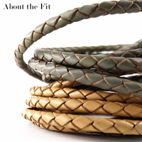 20LB40 Side Natural BOLO Genuine Braided Leather Jewellery Accessories For Bracelet Necklace Jewelry Making Men Woven Brace Rope